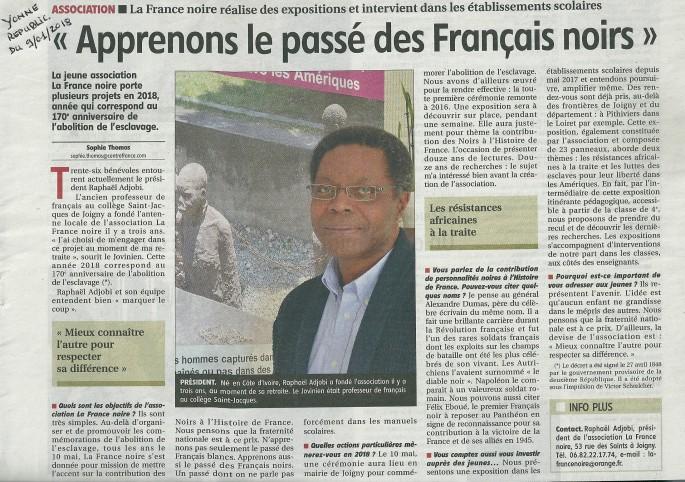 La France noire dans L'Yonne républicaine